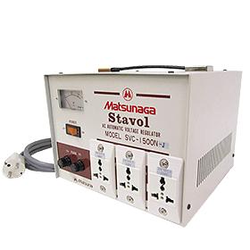 松永製作所 SVC-1500N-J 安定化機能付き変圧器